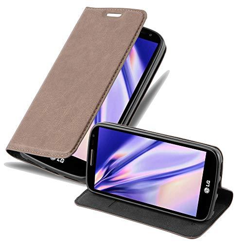 Cadorabo Hülle für LG G2 Mini in Kaffee BRAUN - Handyhülle mit Magnetverschluss, Standfunktion & Kartenfach - Hülle Cover Schutzhülle Etui Tasche Book Klapp Style