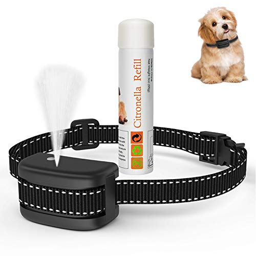 Citronella Spray Dog Bark Collar, [Include Citronella Spray] Dog Citronella Training Collar, No Electric Shock Humane Safe, Rechargeable Adjustable Waterproof Anti Barking ControlCollar for Dogs