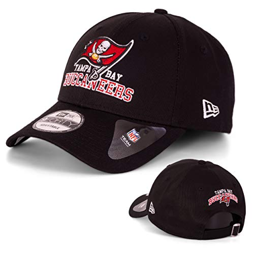 New Era Baseball Cap Basecap Herren Limited Edition mit Extra Team Stickerei auf Rückseite NFL, NBA, MLB Mütze 9Forty Snapback Yankees, Bulls, Dodgers, Lakers, Sox (Tampa Bay Buccaneers)
