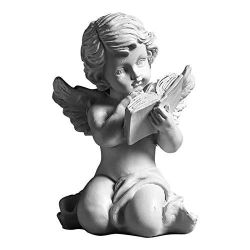 Funight Statua di Angelo, Scultura da Giardino in Resina, Statuette Fatte A Mano Multiuso, Statuette di Eccellente Fattura per Cortile 2