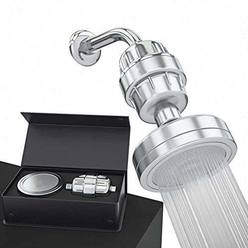 Grifo ducha Calidad de aluminio Baño Ducha cabeza de presión del filtro Booster ahorro del agua de baño cabezal de ducha de lluvia Mano filtro de ducha Ducha