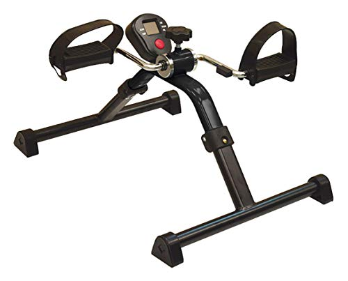 Sport-Thieme Pedaltrainer klappbar mit Display | Kompakt, Leichter Mini-Bike Heimtrainer für Arme und Beine | Für Senioren, Büro, Schreibtisch | 47,5x39x25 cm | 2,2 kg | Eisen, Kunststoff