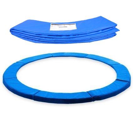 ULTRAPOWER SPORTS Federabdeckung Randschutz Randabdeckung für Trampolin 244cm - 305cm - 366cm Rahmenpolsterung Pink/Grün/Farbige PVC - UV beständig (Blau, 305cm - 8 Stangen)
