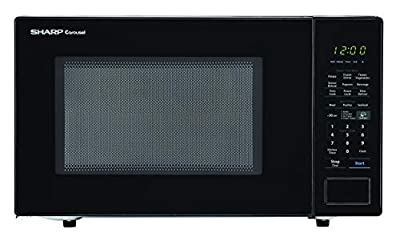 SHARP Black Carousel 1.4 Cu. Ft. 1000W Countertop Microwave Oven (ISTA 6 Packaging), Cubic Foot, 1000 Watts (Renewed)