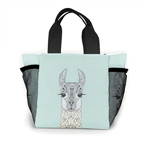Cute Llama Handbag Women Fashion Bag Reusable Shopping Bags Light Handbags High Capacity Gift Bags Food Storage Bags