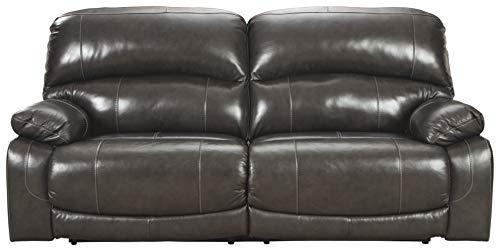 Signature Design by Ashley Hallstrung 2-Seat Reclining Power Sofa Gray