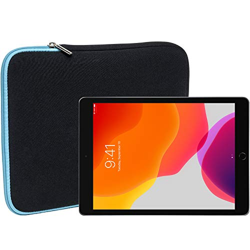 Slabo Tablet Tasche Schutzhülle für iPad 10.2 (7. Generation | 2019) | iPad 10.2 (8. Generation | 2020) Hülle Etui Hülle Phablet aus Neopren – TÜRKIS/SCHWARZ