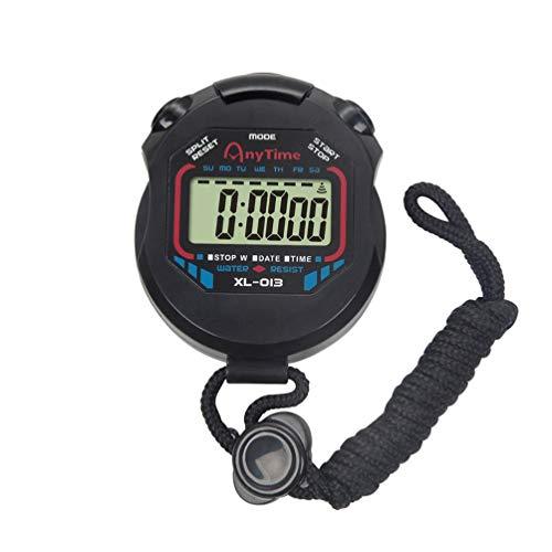 BESPORTBLE Cronómetro LCD Profesional Digital de Mano con Función de Alarma Cronógrafo Temporizador para Deportes