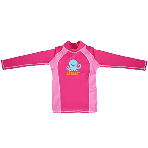 UTTER Girls Rash Guard Long Sleeve Swimwear Swim Surf Shirt Top UV Sun Protection for Teen Girls 12-13Y