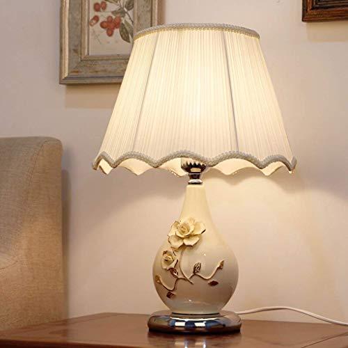 QPLKL Lámpara Creativa lámpara Minimalista Sala de Estar, habitación de Hotel habitación de Estudio lámpara de Mesa de Noche Moderna de cerámica E27 Lámpara de Escritorio