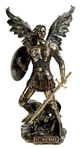 Ars-Bavaria Kulturen der Welt Christliche Figur Erzengel Michael mit Schwert und Schild