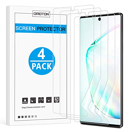 [4 Pack] OMOTON Screen Protector for Samsung Galaxy Note 10 - Flexible...