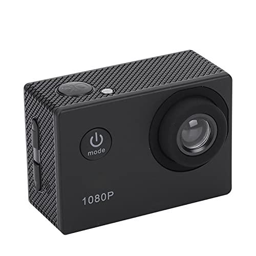 Action Kamera 1080P 12MP Sportkamera Weitwinkelobjektiv Full HD 2,0 Zoll TFT LCD HD Action Cam mit 30m/98ft Unterwasser Wasserdicht für Outdoor Sport/Vlog/Video/Schnorchel Surf(schwarz)