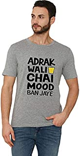 Workshop Graphic Printed T-Shirt for Men & Women | Funny Urban Quote T-Shirts Adrak Wali Chay | Hindi Slogan Tee Chay Love...
