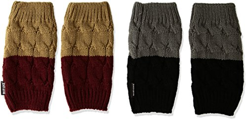 Muk Luks Women's Cable Boot Toppers, Multi, One Size