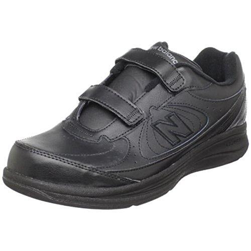 New Balance Womens 577 V1 Hook and Loop Walking Shoe, Black/Black, 5.5 XW US