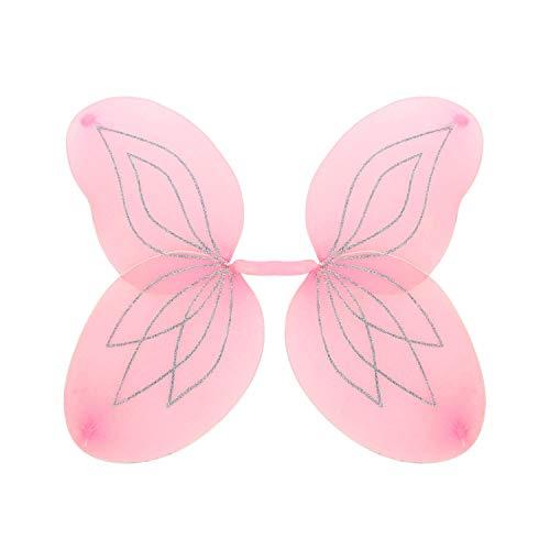 WIDMANN 86411 86411 - Ali glitterati per bambini, motivo: farfalla, principessa, fata, elfo, festa a tema, carnevale, ragazza
