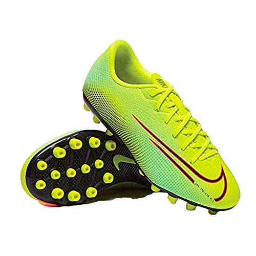 Nike Vapor 13 Academy MDS AG, Zapatillas de Futsal Unisex Adulto, Lemon Venom Black Aurora-Botas de esquí, Color Verde y Negro, 38 EU