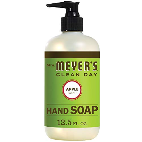 Mrs. Meyer's Clean Day Liquid Hand Soap, Cruelty Free and Biodegradable Formula, Apple Scent, 12.5...