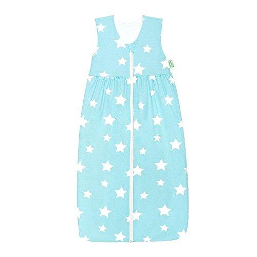 Odenwälder Jersey-Schlafsack Anni white stars frozen minze, Größe:90