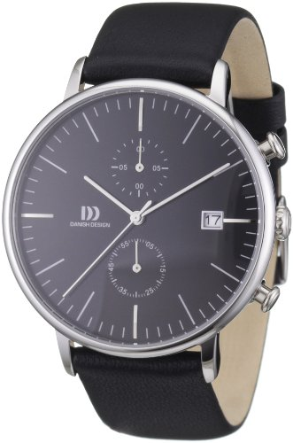 Danish Design Herren-Armbanduhr XL Analog Quarz Leder 3314401
