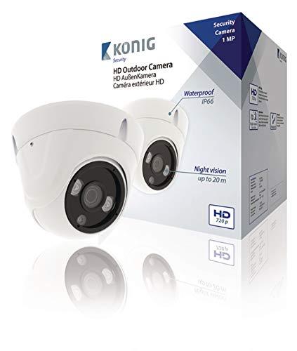 König SAS-AHDCAM01 CCTV Überwachungskamera Innen und Außen Capocorda Weiß 1280 x 720Pixel Sicherheitskamera