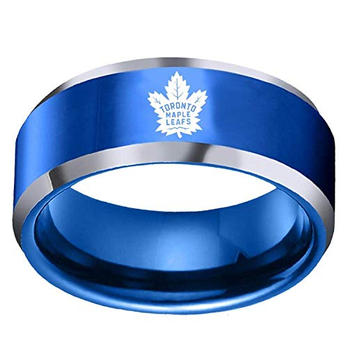 YF ringen collectie Sportfans collectie ring hockey van hoogwaardige legering voor heren en dames, fijne afwerking 9 Blauw