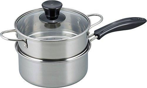 和平フレイズ 片手鍋 二段蒸し器 18cm IH対応 ステンレス 鍋屋大作 NR-7732
