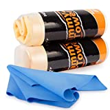 HOTOR Car Drying Towel for Car Wash, 26'' x 17'', Super Absorbent Chamois Cloth for Car with Quick Dry Design, Durable and Multipurpose PVA Shammy Cloth for Car Dusting, Drying and Detailing
