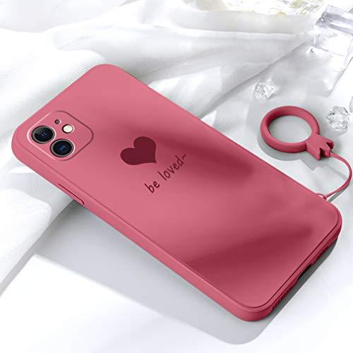 Emlivi Custodia per iPhone 11 Pro Max, custodia per iPhone 11 Pro Max(6,5'), in silicone, motivo creativo, 3D, in TPU, ultra sottile, cover alla moda chic per iPhone 11 Pro Max, colore: Rosso