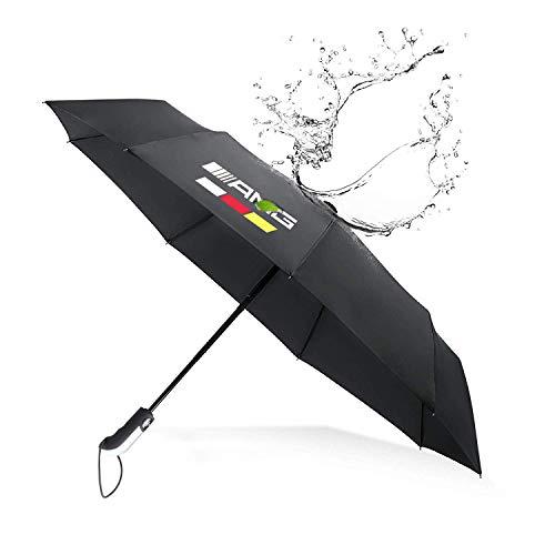 YIKA Fully Automatic Auto Sport AUTO Open Large Folding Umbrella Windproof Sunshade for Mercedes-Benz/AMG