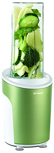 Trisa Electronics Power Smoothie Standmixer, Kunststoff, Grün, Transparent