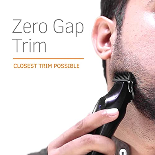 Ustraa Chrome 300 Corded and Cordless Beard Trimmer with Lithium-Ion Battery (Black)