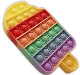 SnooZy KIDS Pop It Fidget Toys Glace Poppit Antistress - Popites - popits Ice Cream Fidget Toys Ce Jouet en Silicone capte l'attention des Enfants autistes. (Multicolore)