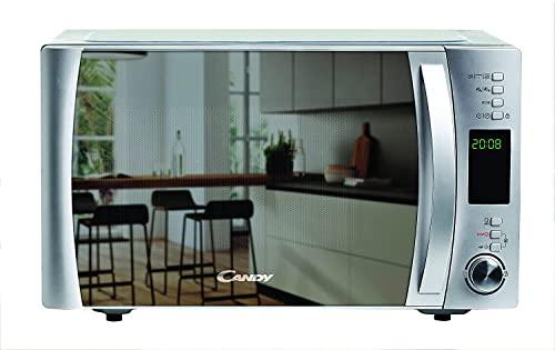 Horno microondas con grill y aplicaciones de cocción, 40 programas automáticos, 25 litros, 900 vatios / 1000 vatios, color espejo