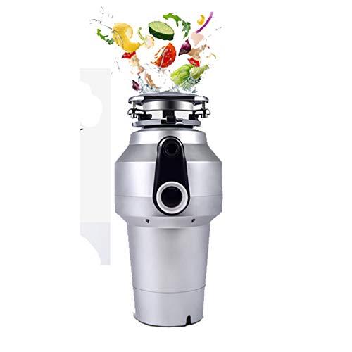 XMY Smaltimento rifiuti alimentari senza lama per macinazione disordina per cucina, 1200 ml, argento