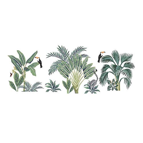 BLOUR Planta en Maceta Verde Etiqueta de la Pared Sala de Estar del hogar Decoración Fresca 60x90cm y calcomanías artísticas Fondo del Dormitorio Pegatinas Frescas M G2V1