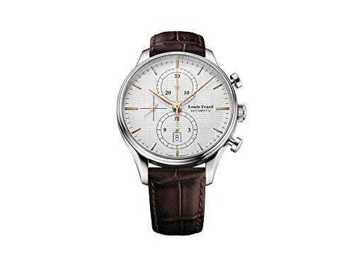 Louis Erard Héritage Classic orologio automatico, argento, cronografo,...