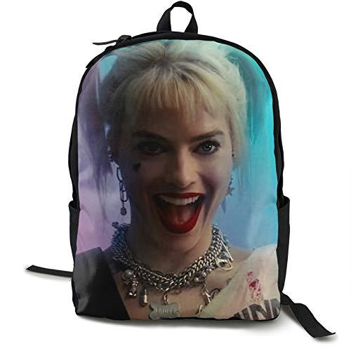 Ha-rley Q-uinn Mochila de viaje para computadora portátil, resistente al agua, mochila de negocios, para mujeres, hombres, colegio, estudiante, regalo, bolsa de 12,5 x 5,5 x 16,5 h
