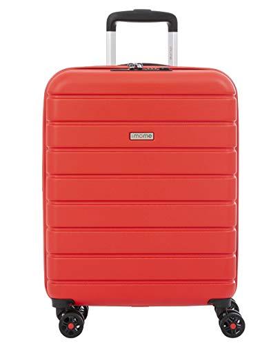 imome Top Maleta de Cabina Roja Cierre TSA 55x40x20/23 cm Expandible | Equipaje de Mano, Trolley de Viaje Ryanair, Easyjet | Maleta de Viaje Rígida 100% ABS Reforzado, Antiarañazos, Carga USB