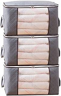 3 PCE Grande capacité Vêtements de stockage Sac de rangement Humidité anti-poussière, sac de rangement horizontal sac à ba...