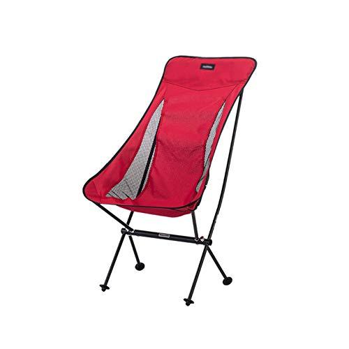 CJSWT Silla de Camping Plegable - Campamento de Mochila al Aire Libre portátil con reposacabezas para Picnic Playa Pesca de Senderismo - 150 kg de Capacidad,B