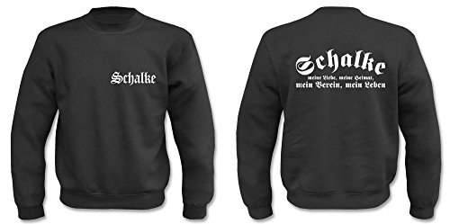 Textilhandel Hering Pullover - Schalke (Schwarz, L)