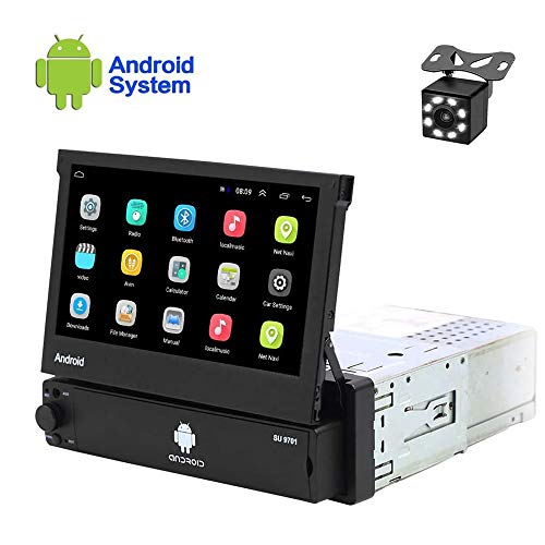 Hikity Android best single din car stereo 7 Inch Flip Out Touch Screen