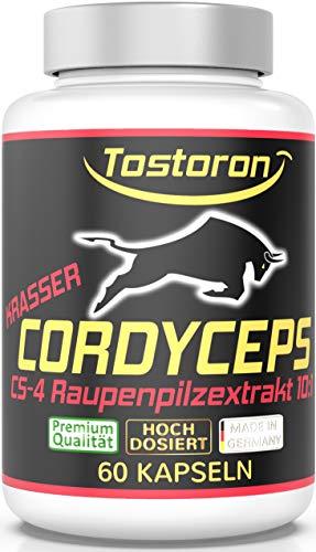 Tostoron KRASSER CORDYCEPS sinensis EXTRA STARK + HOCHDOSIERT original chinesisches CS-4 Raupenpilz Extrakt 10:1 Pulver - 60 Kapseln - hol Dir jetzt die VOLLE VITAL-PILZ-POWER! 1 Dose (1 x 35,7 g)