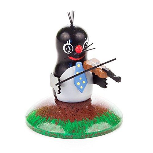Miniatuur-mol muilen viool - Dregeno houten kunst uit het Ertsgebergte - artikel 159/040/8