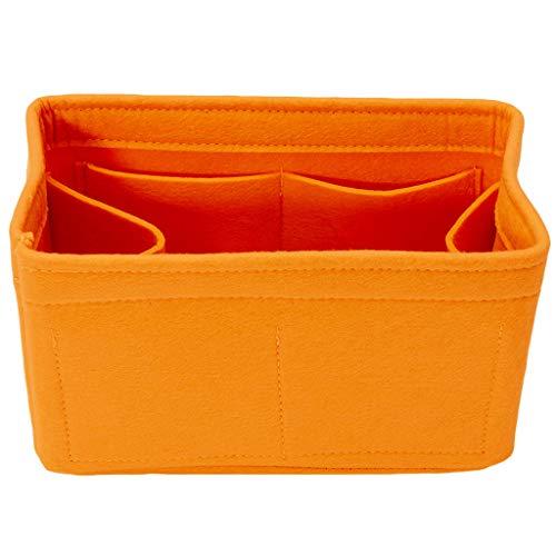 GROOMY Aufbewahrungstasche, Filzeinsatz Tasche Make-up Handtasche Organizer Reise Innentasche Tragbare Kosmetiktaschen Aufbewahrungstasche-Orange-Groß