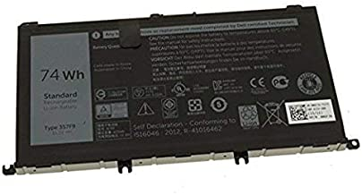 New 357F9 battery for Dell Inspiron 15 7559, Inspiron I7559 11.4v 74Whr 3-Cell Lithium-Ion Primary Battery 071JF4 71JF4