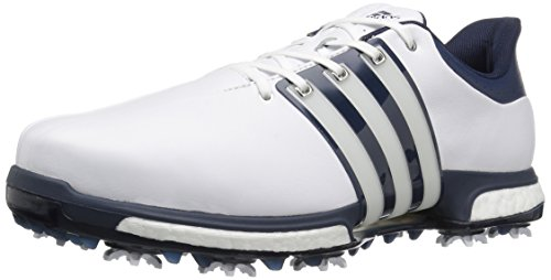 adidas Men's Golf Tour360 Boost Spiked Shoe, WHITE, 9 M US