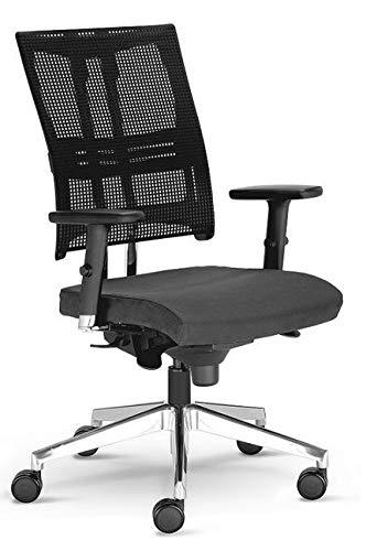 Nowy Styl Net Motion Chaise de Bureau avec Accoudoirs 3D Anthracite Sans Appuie-tête